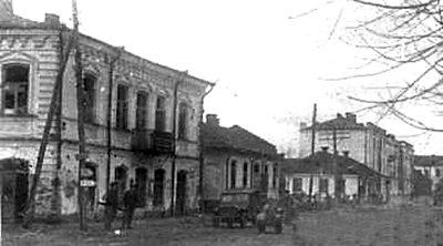 Радянські солдати на вулицях визволеного міста