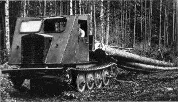 Трельовочний трактор. Фото 1960-х років