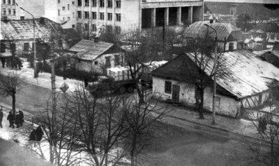 Вулиця Леніна (Шевченка) під час будівництва машинобудівного технікуму. Фото 1983 року