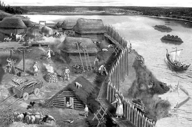Реконструкція стародавнього слов'янського поселення