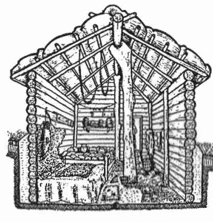 Реконструкція будівлі з Гульського поселення (за П.О.Улько)