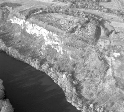 Сучасний вигляд північного городища (аерофотозйомка 2008 року, зроблена А.В.Петраускасом)
