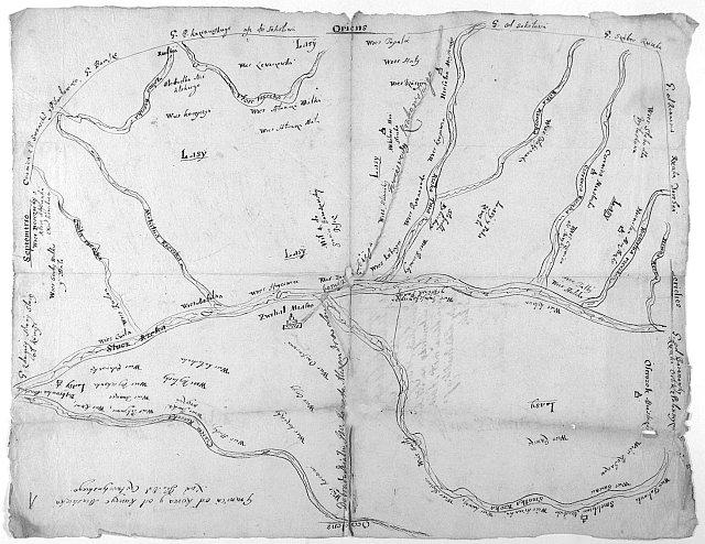 Карта Звягельської волості (1668 рік)