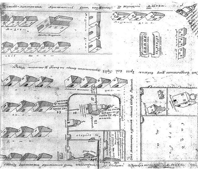Схема Новограда-Волинського 1798 року