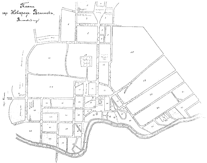 План міста початку ХХ ст. (з книги «Весь Юго-Западный край на 1913 год»)
