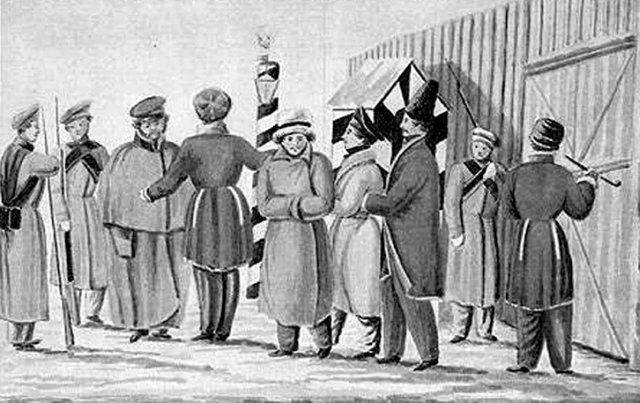 Декабристи в Читинському острозі (мал. Н.П.Рєпіна 1828–1830 рр.)