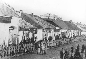 Солдати 18-го мушкетерського Вологодського полку, вул. Соборна, поч. ХХ ст.