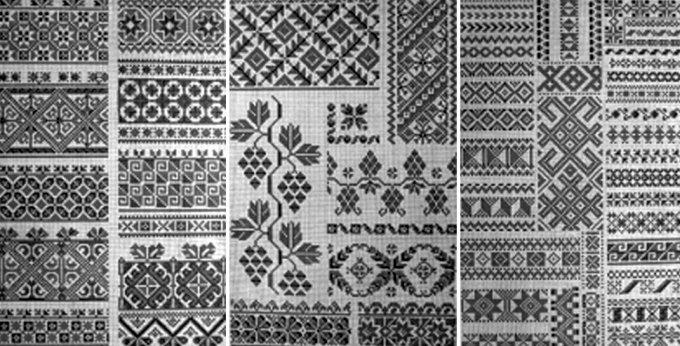 Зразки поліської вишивки із альбому Олени Пчілки «Українські взори»